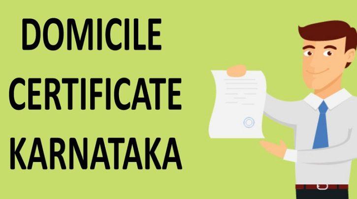 Domicile Certificate Karnataka