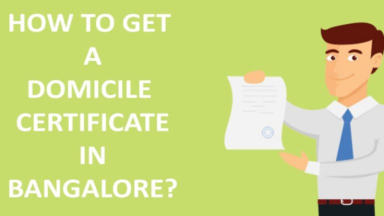 Domilcile Certificate In Bangalore