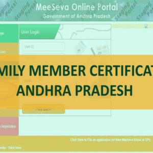 Family Member Certificate